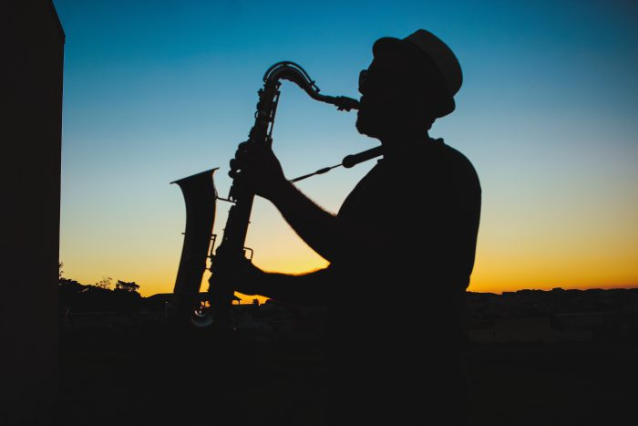 man playing sax