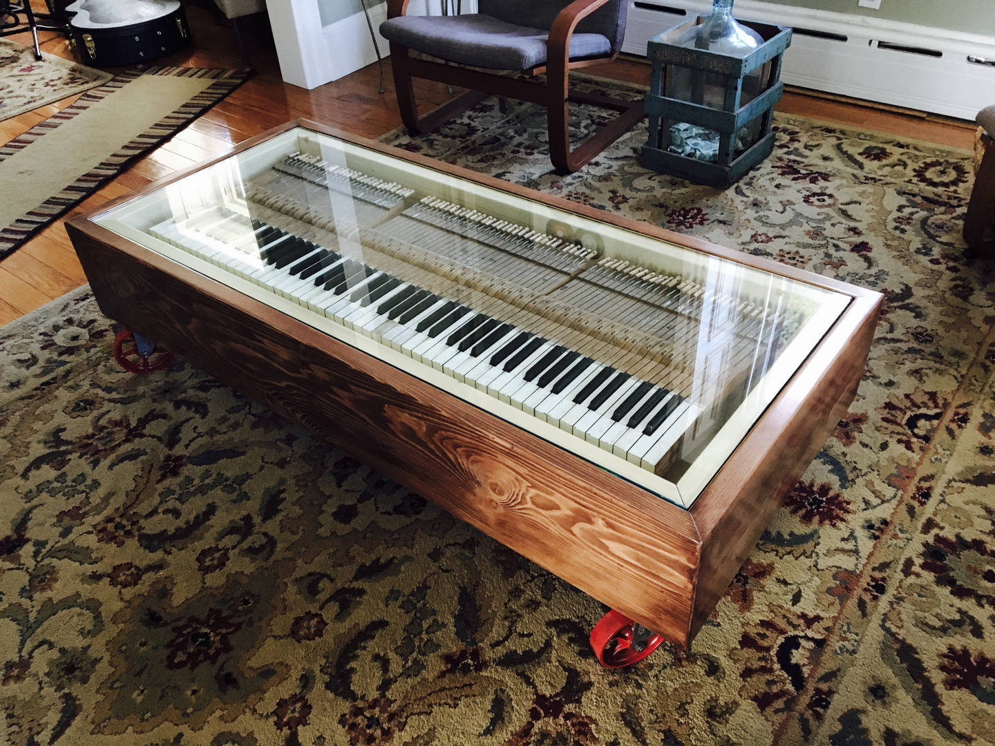 7 Amazing Upcycled And Repurposed Pianos Piano Coffee Table