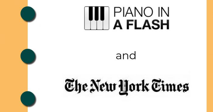Piano in a Flash mentioned in New York Times
